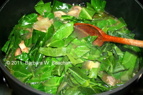 Add the chard and stir
