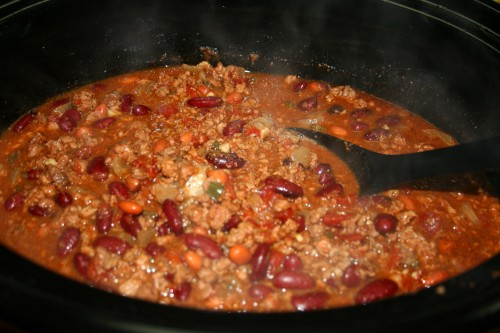 Steaming hot chili!