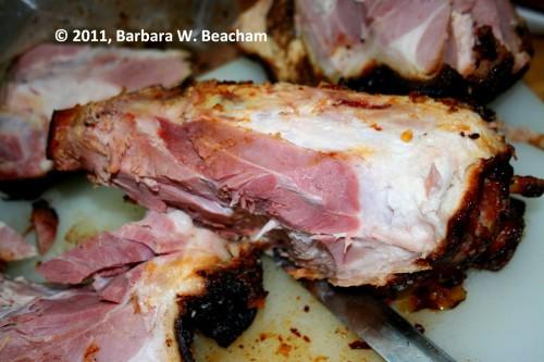 Ham bone is ready to go in