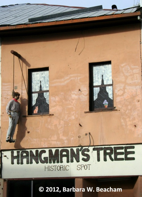 Hangman's Tree is actually located inside this building.
