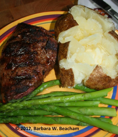 A steak dinner!