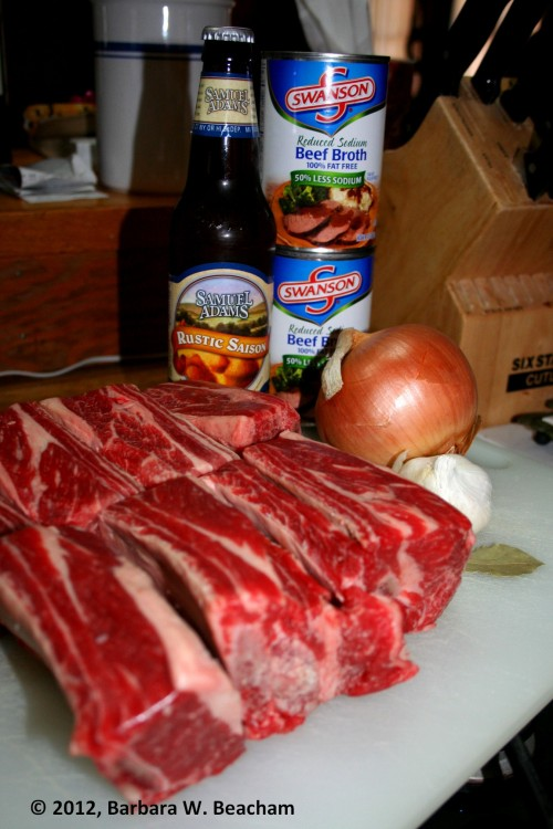 The beginnings of a great beef short rib dinner!
