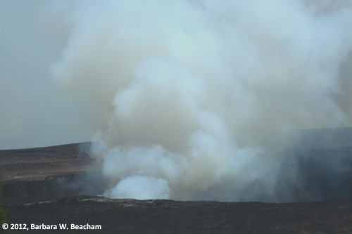 The sulfur smell of a volcano