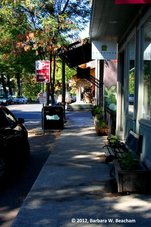 The main street in Murphys