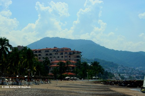 A beach view in Puerto Vallarta