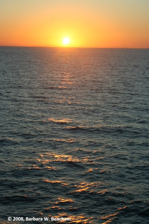 Seeing the sun rise over the ocean