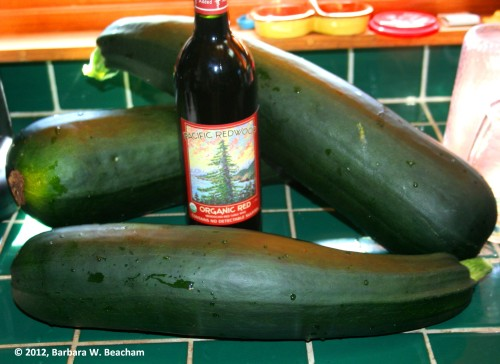 Huge zucchini picked fresh today!