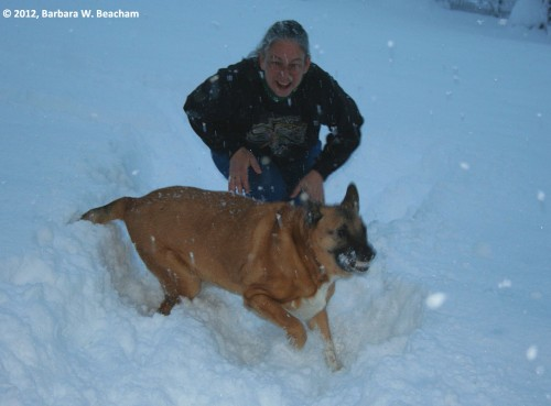 It snows and we play!