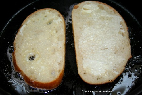 Start with the inside of the sandwich