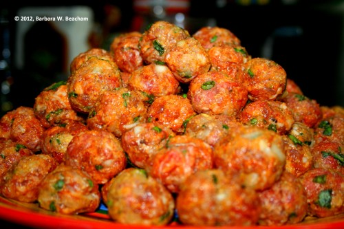 The finished meatballs