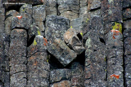 Geometry in a basalt formation