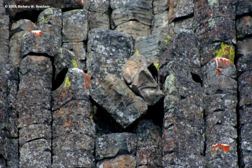 Geometry in a basalt formation