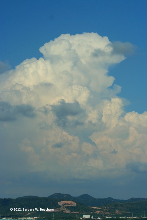 The majesty of water in a cloud
