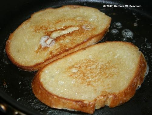 Turn the bread