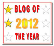Blog of the Year Award - 2 Stars Earned!