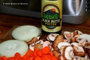 Porter, onions, mushrooms, carrots, oh my!