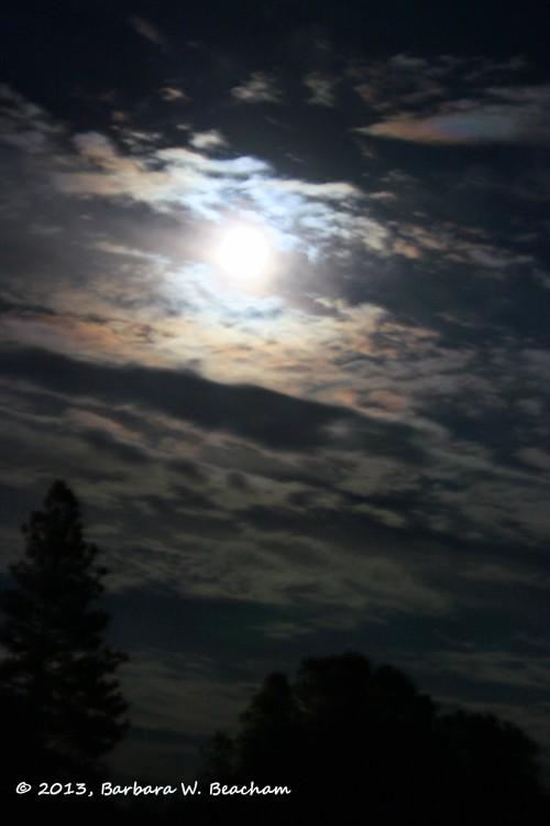 The Moon shining through