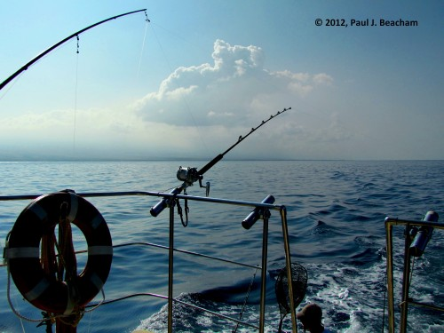 Fishing on the Pacific in Hawai'i