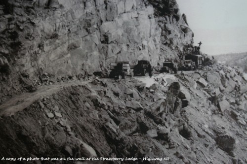Highway 50 under construction