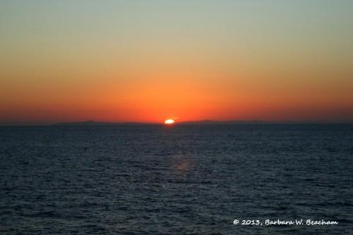 Sunrise over Mexico