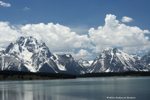 The Grand Tetons from afar