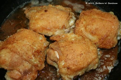 Turn the chicken