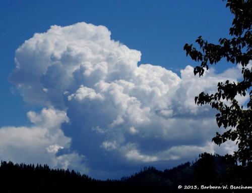A massive thunderhead
