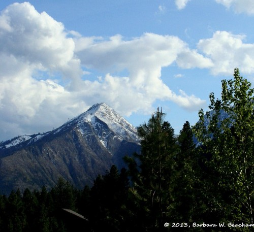 A mountain view from Leavenworth, WA