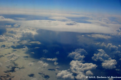 A storm cloud over the pacific