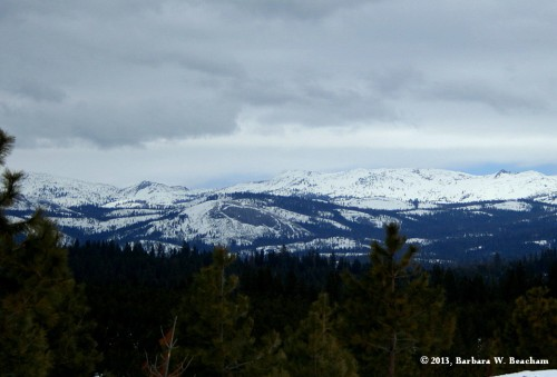 A view of the Sierra Nevada Range