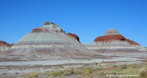 Mountains rising up as we head into the Painted Desert