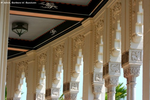 Check out the tops of the columns on the balcony