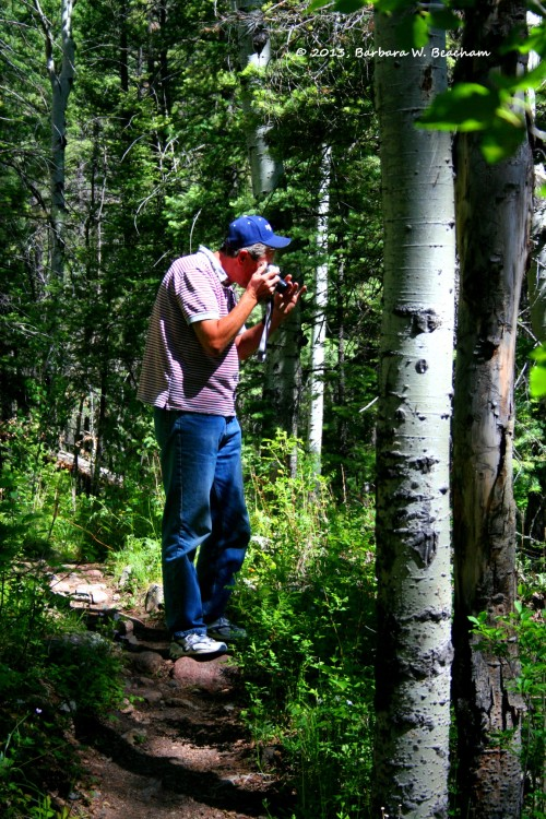 My husband on the trail