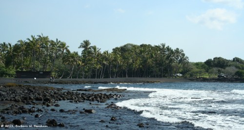 The Black Sand Beach on the Island of Hawai'i