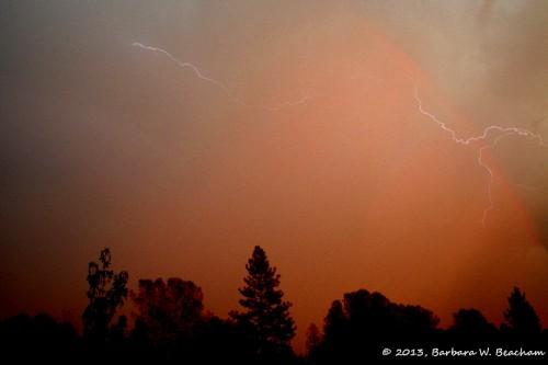 Lightning at sunrise