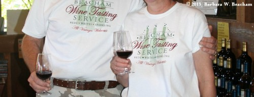 Our wine tasting service!