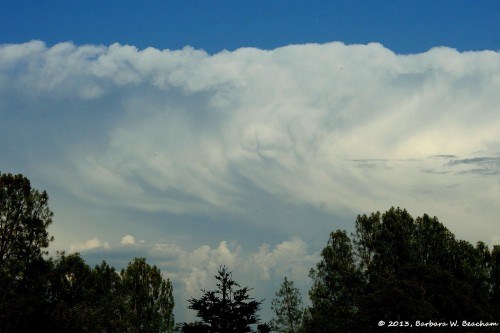 Rolling thunderheads