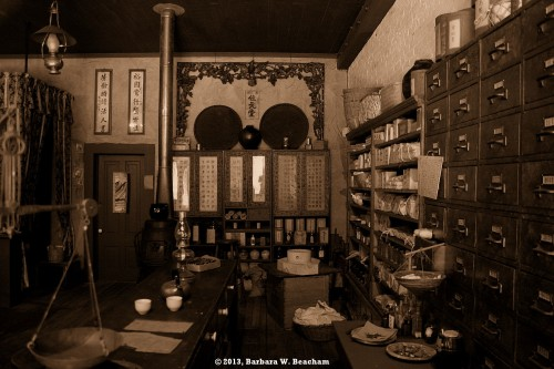 A Chinese herbalists shop
