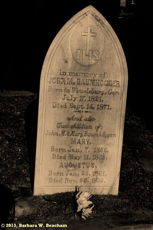 A grave marker