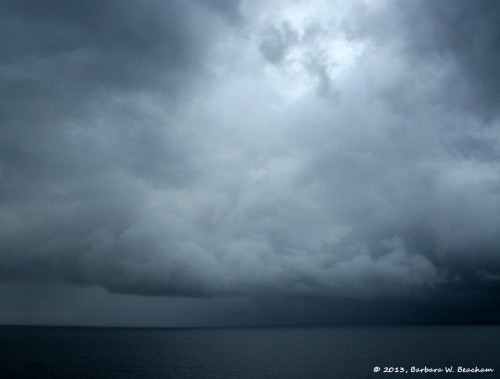 A storm on the Pacific Ocean