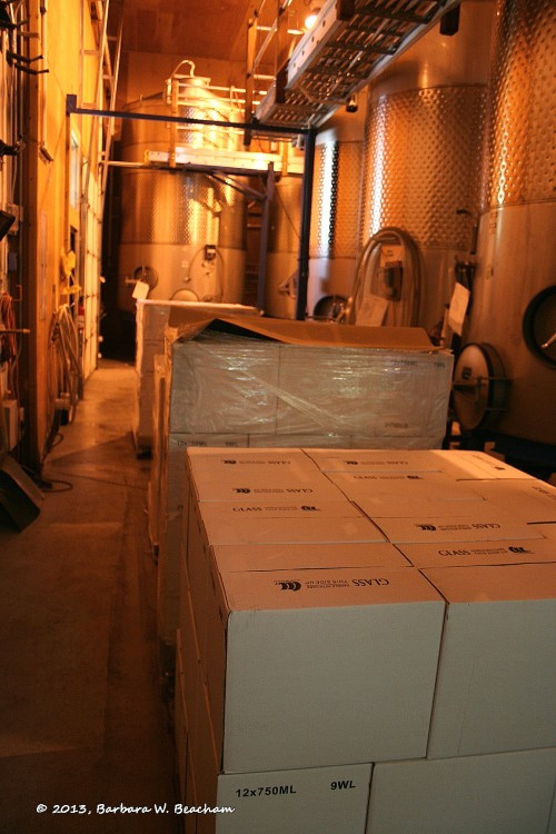 The tanks & wine boxes