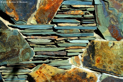 Landscape of a lovely stone wall