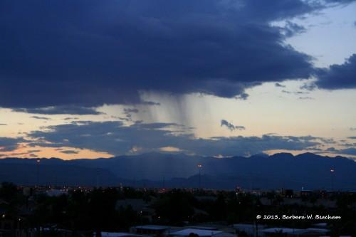 It rains again at dusk