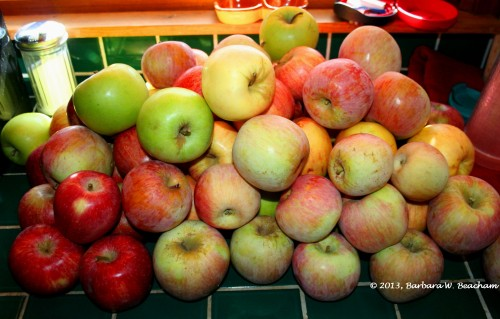 A mix of apples