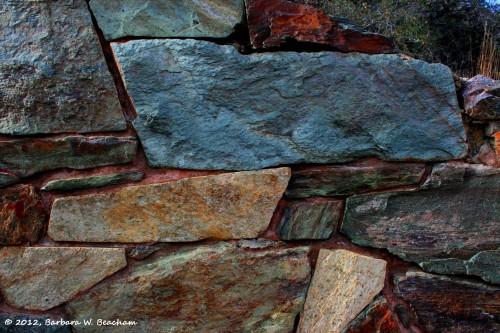 Arizona rock wall