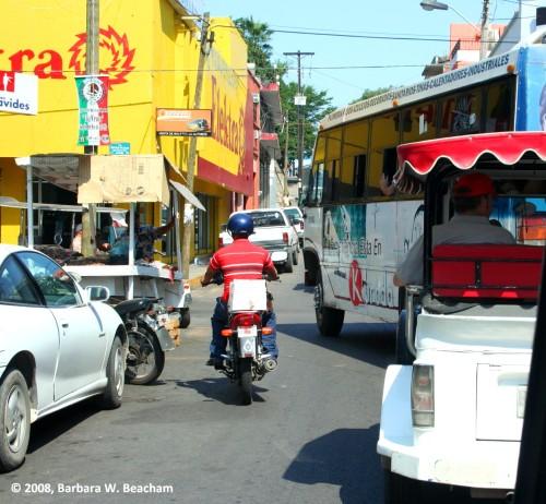 A street in Mazatlan