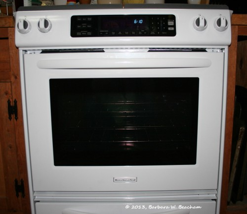 The new stove and oven combo