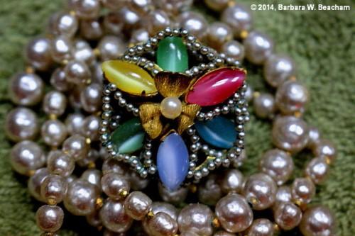 A necklace clasp