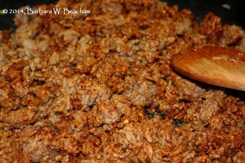 Add in the taco seasoning