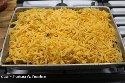 Top with cheddar cheese
